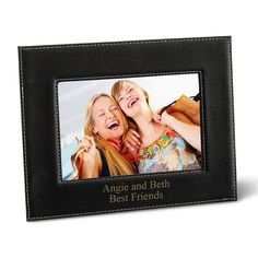 Black Leatherette 5x7 Picture Frame