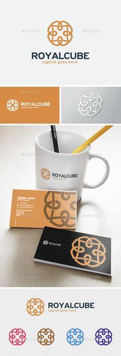 Royal Cube  Logo Design Template Vector #logotype Download it here: http://graphicriver.net/item/royal-cube-logo/12043156?s_rank=637?ref=nesto