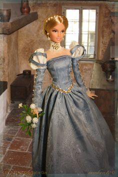 Someday my prince will come…In this photo, Renaissance Faire Barbie® wears pearl teardrop earring made by yours truly.  Want this doll for your collection? It's now available at the Life in Plastic Store! :)