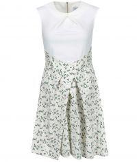 Krémové šaty s potiskem ptáčků Closet