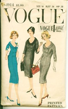 1950's Vintage Vogue Pattern Vogue Special by shellmakeyouflip, $25.00
