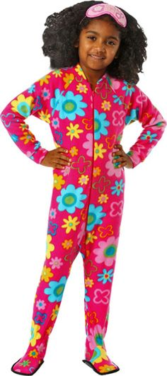 Big Feet PJs Navy Fleece Footed Pajamas for Boys | We, Bed in and Boys
