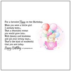 For a favorite Niece on Her Birthday   all-greatquotes.com Birthday Cards For Niece, Free Happy Birthday Cards, Facebook Family, For Facebook, Dad Daughter, Niece And Nephew, Partner Quotes, Sister Quotes, Anniversary Quotes