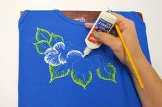 pintura em camisetas passo a passo - Buscar con Google