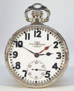 150e834e1b7 An early 20th century Ball Watch Co. Railroad pocket watch. Two time zone  model