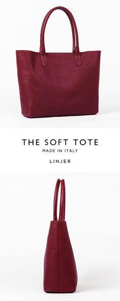 499a6a4a9 Leather tote in a rich wine colour Bolsa Grande