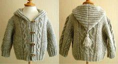 Resultado de imagen para abrigo para niño tejido dos agujas