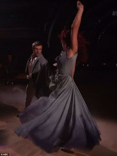 Passionate performance: Sharna and Nick received 24 points for their foxtrot