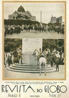 Caudilhos gaúchos amarram seus cavalos no obelisco da avenida Rio Branco do Rio de Janeiro - 1930. Em 1982 amarraram todo o Rio com Leonel Brizola.