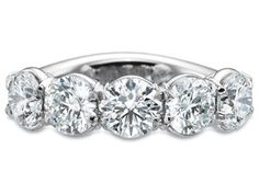 Precision Set 5 Stone Band with Round Brilliant Diamonds.  Available at Alson Jewelers.
