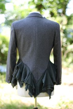 Anchor Jacket  / Medium / Upcycled / Wool Jacket / One by irinale, $55.00