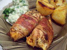 Pieczona pierś z kurczaka zawinięta w boczek | Geniusz w kuchni