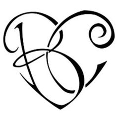 Letter b tattoo fonts google search tatoos pinterest fonts initials in a heart thecheapjerseys