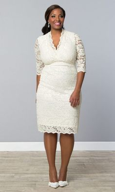 Kiyonna Luxe Lace Wedding Dress