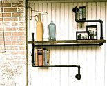 industrial piping = shelving