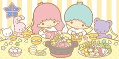 Sanrio: Little Twin Stars:) Sanrio Characters, Cute Characters, Little Twin Stars, Little Star, Star Banner, Star Cloud, Star Party, Kawaii Cute, Kawaii Stuff