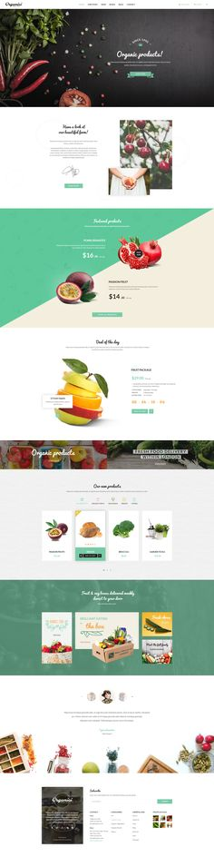 Organici is the premium #PSD #template for #Organic Food Shop. The template includes essential pages for a Organic Store: Shop, Product Detail, Shopping Cart, Checkout, Blog, Contact.  15 PSD files in total.