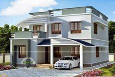 This 1713 sq.ft Modern Villa Design Square Meter) Square Yards) has 3 bedroom. Duplex House Design, Design Your Dream House, Dream House Plans, Modern House Plans, House Outside Design, Small Villa, Double Door Design, Indian House Plans, Modern Villa Design