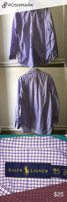 Ralph Lauren long sleeve button up shirt In excellent used condition! This shirt is made of 100% cotton and can be dressed up with a nice pair of slacks and tie or worn casual with shorts and a pair of Sperrys. Great for the beginning of the school year! Size: 15 1/2. 32-33 Polo by Ralph Lauren Shirts Casual Button Down Shirts