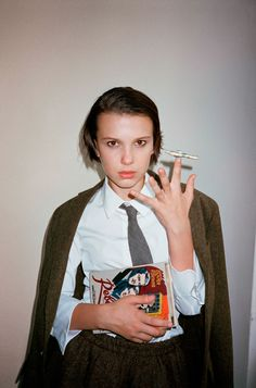 Millie Bobby Brown by Cass Bird for L'Uomo Vogue October 2017
