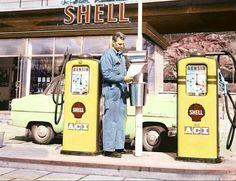Shellstasjon i Sverige 1950-tallet