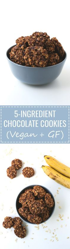 (Vegan and GF) These delicious 5-ingredient chocolate cookies are vegan and also gluten-free. You need to try these beauties, they're life-changing.