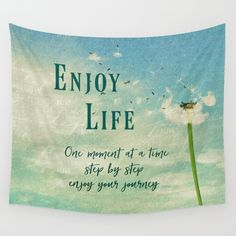 Inspirational LIfe Quotes Tapestry  Available in three distinct sizes, our Wall Tapestries are made of 100%