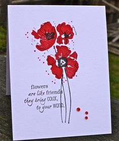 CAS212  Flowers Are Like Friends by hskelly - Cards and Paper Crafts at Splitcoaststampers