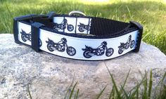 Motorcycle Dog Collar by WillyWoofs on Etsy, $16.00