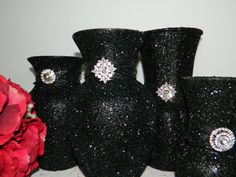 Weddings, Wedding Centerpiece, Wedding Decorations, Silver, Black, New Years Eve Party, Engagement Party, Bridal Shower, Birthday, Black Tie on Etsy, $44.44 AUD