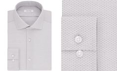 Macy's, Calvin Klein Mens STEEL Slim-Fit Non-iron Performance Blue Tonal Print Dress Shirt, gray pearl, too close to gray?