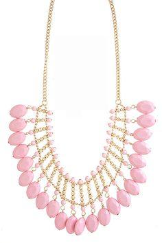Light Pink Statement Necklace