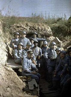 World War I - French troops in a trench