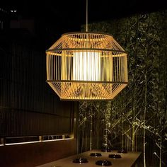 Aliexpress Acheter Bambou En Osier Rotin Pendentif Luminaire