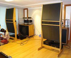 Audiophile Speakers, Sound Art, High End Audio, Cool Gear, Loudspeaker, Recording Studio, Audio Equipment, Audio System, Quad