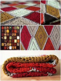 The spicy diamond blanket is a free crochet pattern on haakmaarraak.nl!