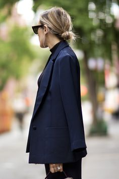 the low knot, long blazer