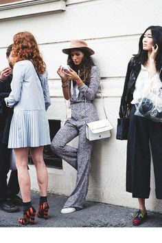 sneakers and pearls, street style, mixed looks outside the fashion shows, trending now.png