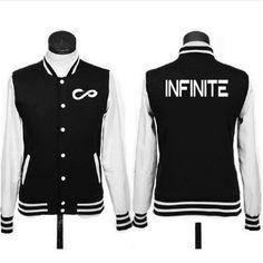 2016 kpop infinite álbum infinito otoño Unisex , además de terciopelo ropa béisbol k-pop camisa de manga larga de corea del suéter con capucha(China (Mainland))