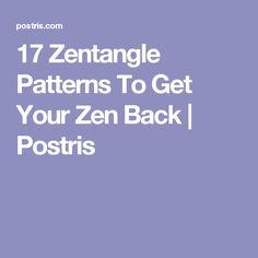 17 Zentangle Patterns To Get Your Zen Back | Postris