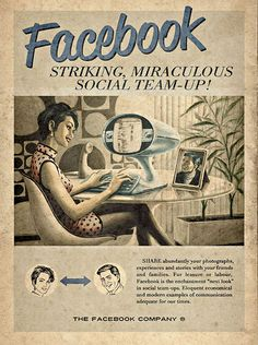 Vintage social networking posters • Graphic designer Andrew Keir
