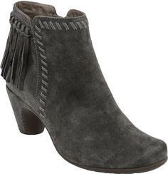Rich suede, and delightful fringe make the Earthies Zurich a style to die for!  It's this seasons must have bootie.