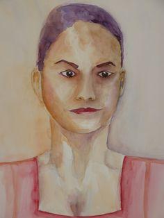 Módelo mexicana. Formato A2. Acuarela realizada por Conchi Moreno. #retrato #acuarela