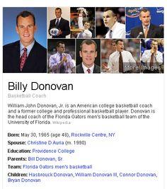 Coach Billy Donovan