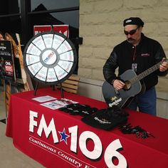 Come join Mark Richards and Kretschmar Deli at Festival Foods in Mount Pleasant from noon-2pm. Enjoy a delicious rack of ribs and spin the prize wheel for a chance to win some swag! We've got a guitar to give away! Buy this Prize Wheel at http://PrizeWheel.com/products/tabletop-prize-wheels/tabletop-black-clicker-prize-wheel-12-slot/.