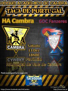 Hóquei em patins: HA Cambra vs GDC Fânzeres > 13 Dez 2014, 18h @ Pavilhão Municipal, Vale de Cambra  _Taça de Portugal_  #ValeDeCambra #hoqueiPatins