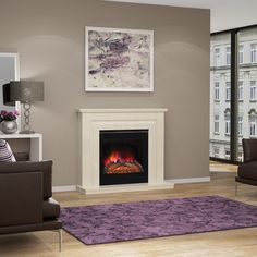 "Elgin and Hall Mariella 50"" Electric Fireplace Suite - Fireplaces Are Us"