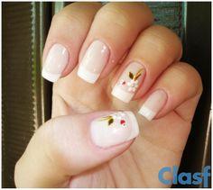 uñas frances con flor Cute Nails, Pretty Nails, My Nails, Mani Pedi, Pedicure, Gel Nail Art, Nail Polish, Sunflower Nail Art, Toe Nail Designs
