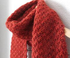 knit, too!: free pattern!  Double moss stitch scarf