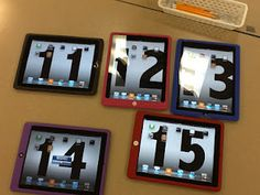 Organizing IPads, Excellent Teacher Blog on using technology in the classroom, love that the background of the i pads is the number of the i pad.